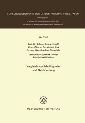 Vergleich von Schallsignalen und Gehorleistung af Johann Schwartzkopff