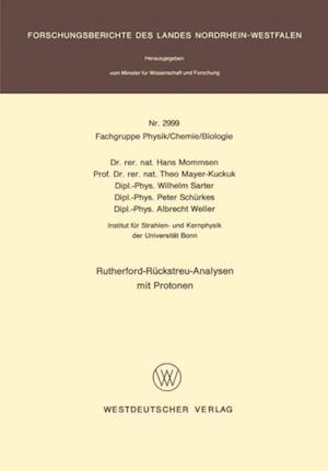 Rutherford-Ruckstreu-Analysen mit Protonen
