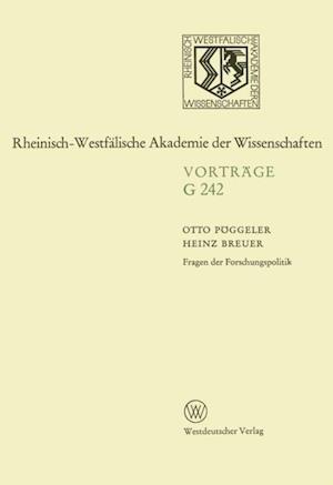 Fragen der Forschungspolitik af Otto Poggeler