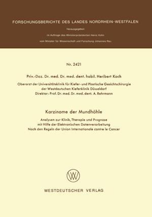 Karzinome der Mundhohle af Heribert Koch