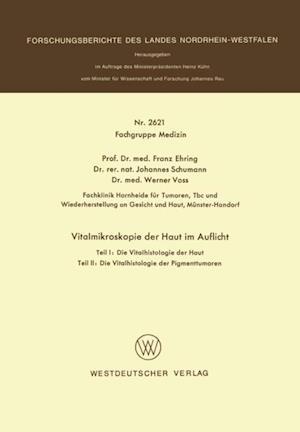 Vitalmikroskopie der Haut im Auflicht af Franz Ehring