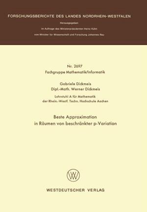 Beste Approximation in Raumen von beschrankter p-Variation af Gabriele Dickmeis