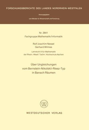 Uber Ungleichungen vom Bernstein-Nikolskii-Riesz-Typ in Banach Raumen af Rolf Joachim Nessel