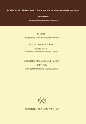 Englische Rhetorik und Poetik 1479 - 1660 af Heinrich F. Plett