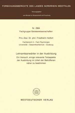Lehramtsanwarter in der Ausbildung af Friedhelm Holfort