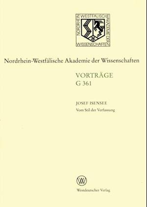 Vom Stil der Verfassung af Josef Isensee