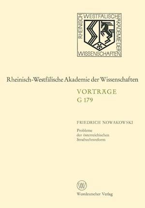 Probleme der osterreichischen Strafrechtsreform af Friedrich Nowakowski