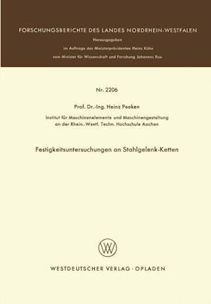 Festigkeitsuntersuchungen an Stahlgelenk-Ketten af Heinz Peeken
