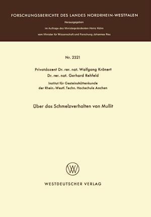 Uber das Schmelzverhalten von Mullit af Wolfgang Kronert