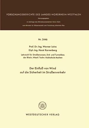 Der Einflu von Wind auf die Sicherheit im Straenverkehr af Werner Leins