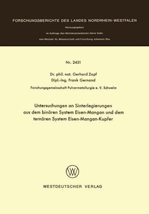 Untersuchungen an Sinterlegierungen aus dem binaren System Eisen-Mangan und dem ternaren System Eisen-Mangan-Kupfer