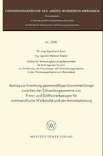 Beitrag zur Ermittlung gesetzmaiger Zusammenhange zwischen der Schneidengeometrie von Trenn- und Schlitzwerkzeugen fur nichtmetallische Werkstoffe und der Antriebsleistung