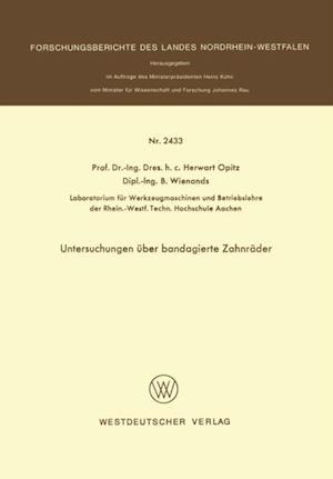 Untersuchungen uber bandagierte Zahnrader af Herwart Opitz