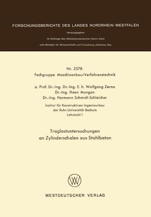 Traglastuntersuchungen an Zylinderschalen aus Stahlbeton af Wolfgang Zerna