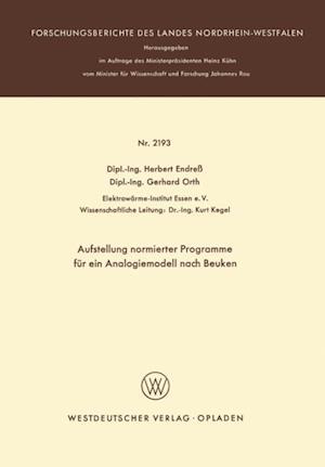 Aufstellung normierter Programme fur ein Analogiemodell nach Beuken af Herbert Endress