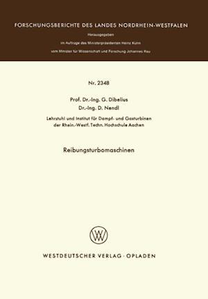 Reibungsturbomaschinen af Gunther Dibelius