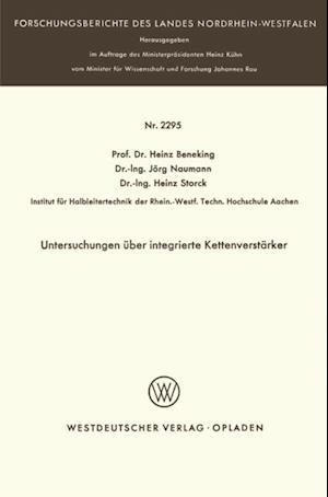 Untersuchungen uber integrierte Kettenverstarker af Heinz Beneking
