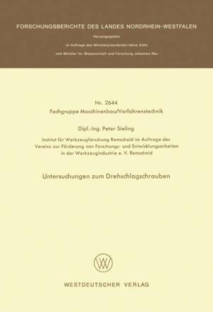 Untersuchungen zum Drehschlagschrauben af Peter Sieling