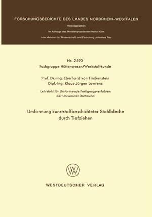 Umformung kunststoffbeschichteter Stahlbleche durch Tiefziehen af Eberhard ˜vonœ Finckenstein