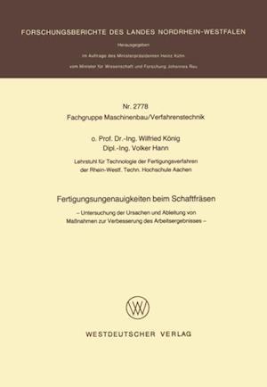 Fertigungsungenauigkeiten beim Schaftfrasen af Wilfried Konig