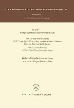 Wirtschaftliche Nutzbarmachung von eisenhaltigen Abfallstoffen af Werner Wenzel