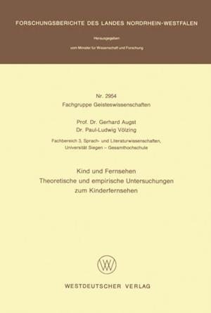Kind und Fernsehen af Gerhard Augst