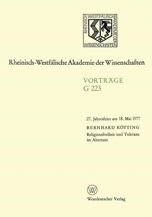 Religionsfreiheit und Toleranz im Altertum af Bernhard Kotting