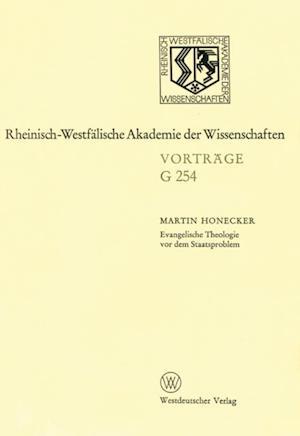 Evangelische Theologie vor dem Staatsproblem af Martin Honecker
