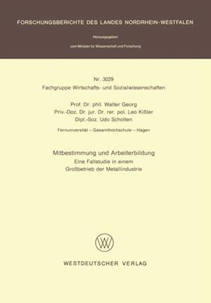 Mitbestimmung und Arbeiterbildung af Walter Georg
