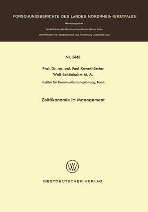 Zeitokonomie im Management af Paul Kevenhorster