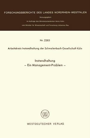 Instandhaltung af Arbeitskreis Instandhaltung der Schmalenbach-Gesel