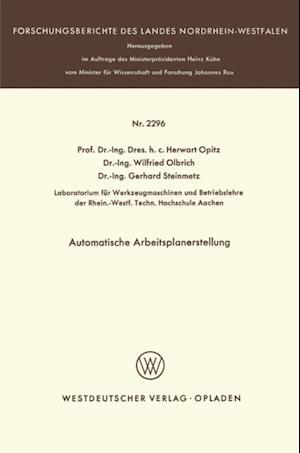 Automatische Arbeitsplanerstellung af Herwart Opitz