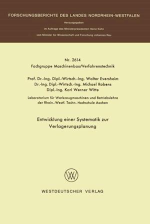 Entwicklung einer Systematik zur Verlagerungsplanung af Walter Eversheim