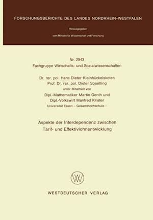 Aspekte der Interdependenz zwischen Tarif- und Effektivlohnentwicklung af Hans-Dieter Kleinhuckelskoten