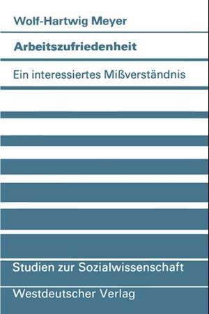 Arbeitszufriedenheit af Wolf-Hartwig Meyer