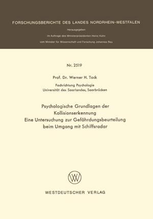 Psychologische Grundlagen der Kollisionserkennung af Werner H. Tack