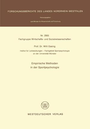 Empirische Methoden in der Sportpsychologie af Willi Essing