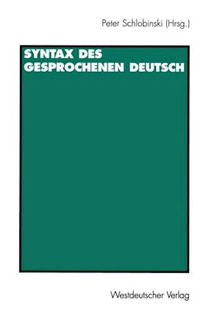 Syntax des gesprochenen Deutsch
