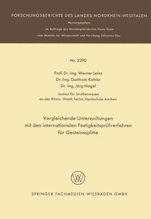 Vergleichende Untersuchungen mit den internationalen Festigkeitsprufverfahren fur Gesteinssplitte