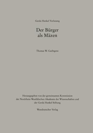 Der Burger als Mazen af Thomas W. Gaehtgens