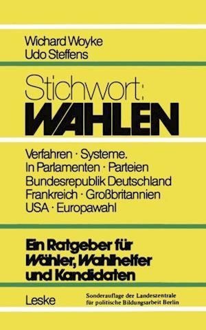 Stichwort: Wahlen af Woyke Wichard