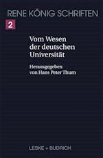 Vom Wesen Der Deutschen Universitat