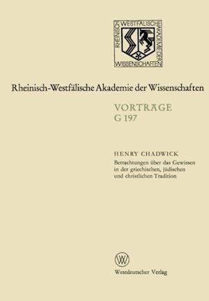 Betrachtungen uber das Gewissen in der griechischen, judischen und christlichen Tradition af Henry Chadwick