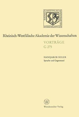Sprache und Gegenstand af Hansjakob Seiler