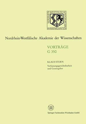 Verfassungsgerichtsbarkeit und Gesetzgeber af Klaus Stern