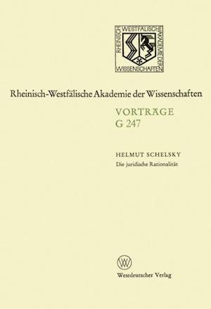 Die juridische Rationalitat af Helmut Schelsky