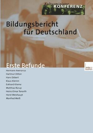 Bildungsbericht fur Deutschland af Klaus Klemm, Eckhard Klieme, Hartmut Ditton