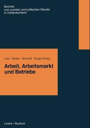 Arbeit, Arbeitsmarkt und Betriebe af Burkart Lutz, Arndt Sorge, Rudi Schmidt