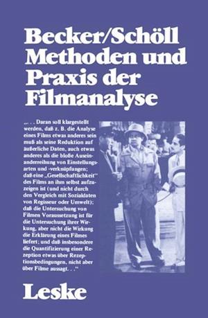 Methoden und Praxis der Filmanalyse af Wolfgang Becker, Norbert Scholl
