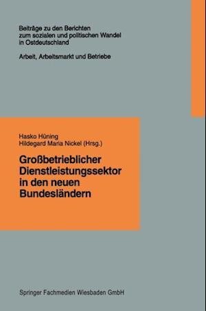 Grobetrieblicher Dienstleistungssektor in den neuen Bundeslandern